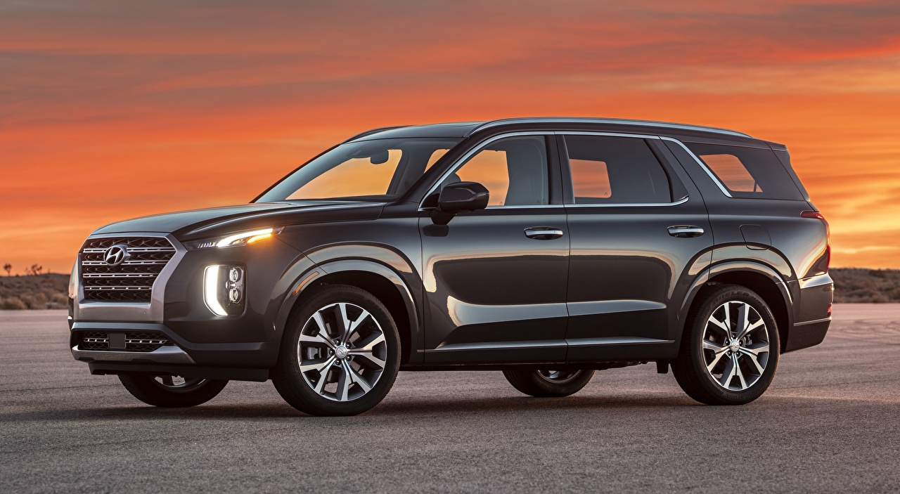 Desktop Wallpapers Hyundai SUV Palisade US-spec, 2019 Side auto Metallic Sport utility vehicle Cars automobile
