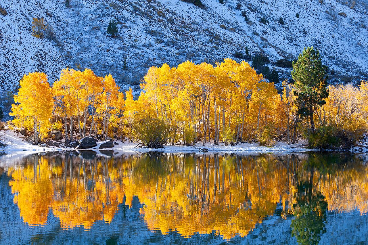 Wallpaper Nature Autumn Mountains Lake 1280x852