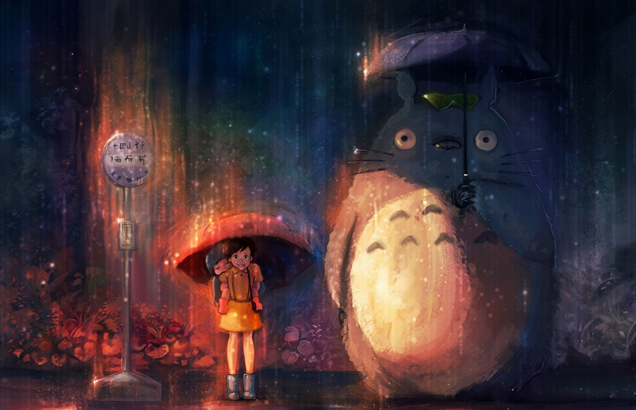 Fonds d'ecran My Neighbor Totoro Parapluie Anime Dessins animés télécharger photo