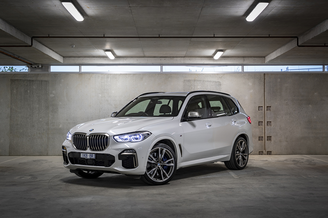Images BMW Crossover 2018-19 X5 M50d White Cars Metallic CUV auto automobile
