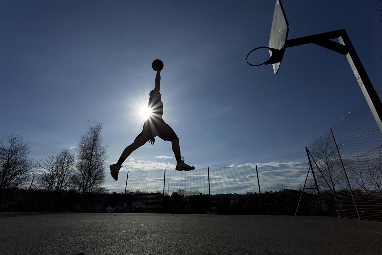 Bilder Lichtstrahl Mann Sport Basketball Sprung Ball sportliches