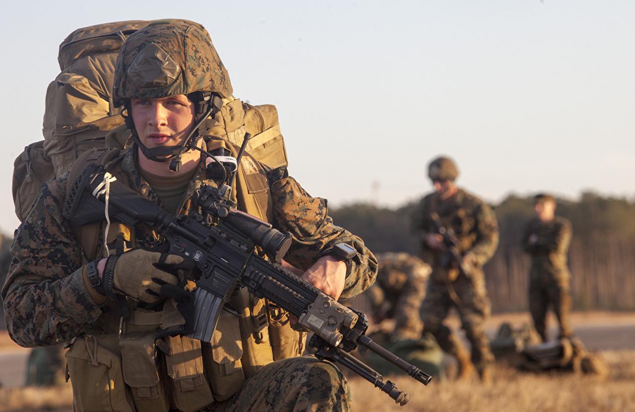 壁紙 兵 小銃 ミリタリーヘルメット 上陸戦 United States Marine Corps ヘルメット 陸軍 ダウンロード 写真
