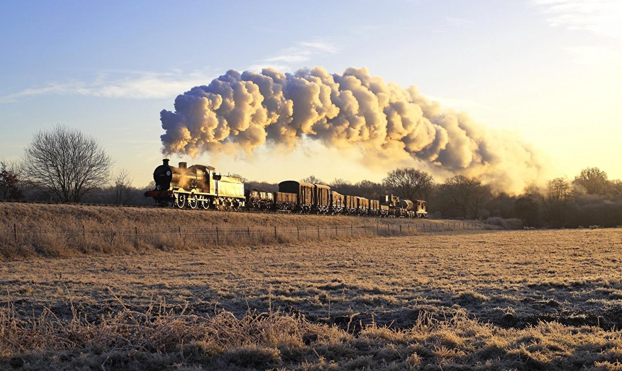 Photo Trains Smoke