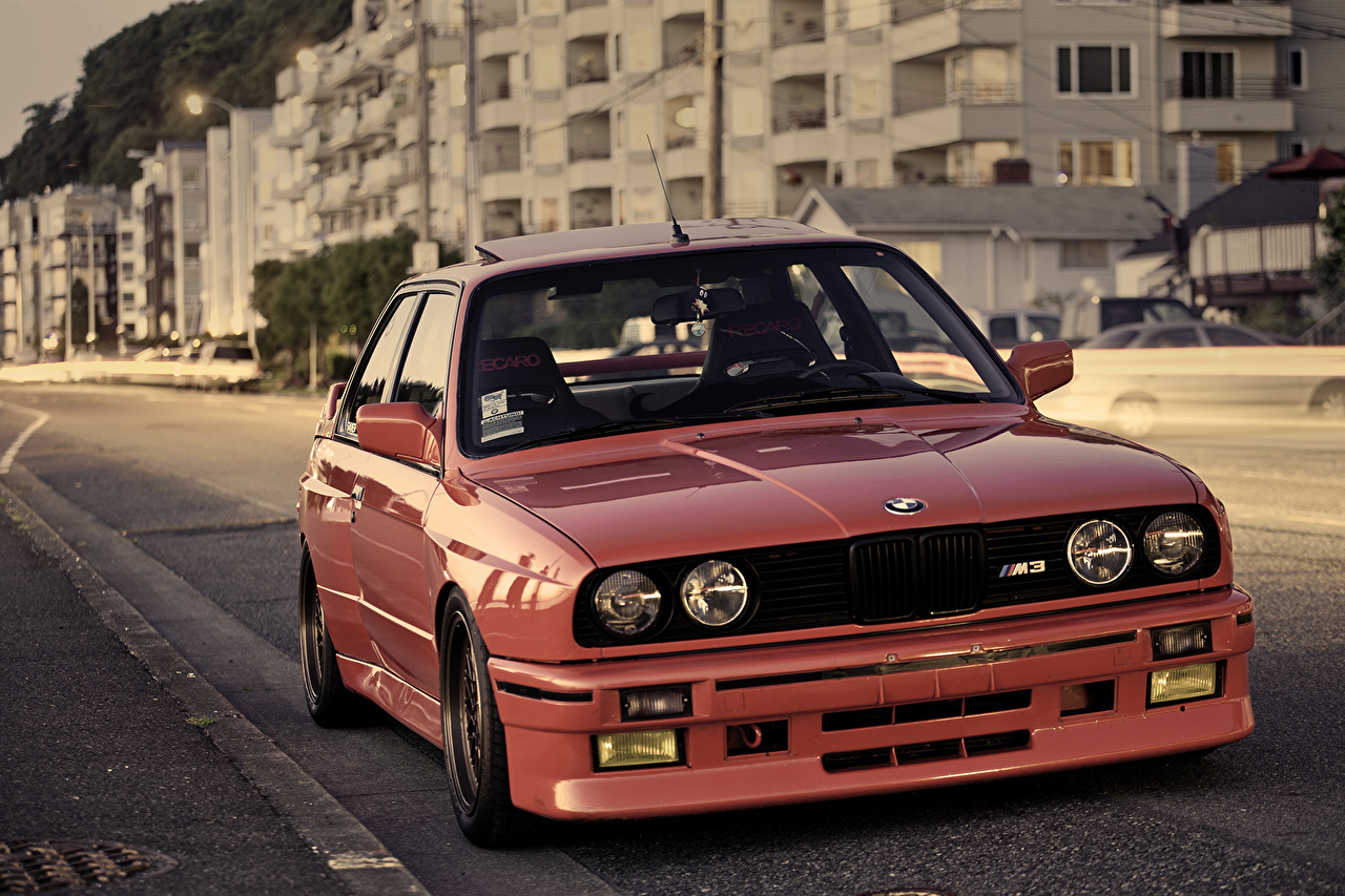 Pictures BMW M3 E30 Red Front Headlights automobile Cars auto