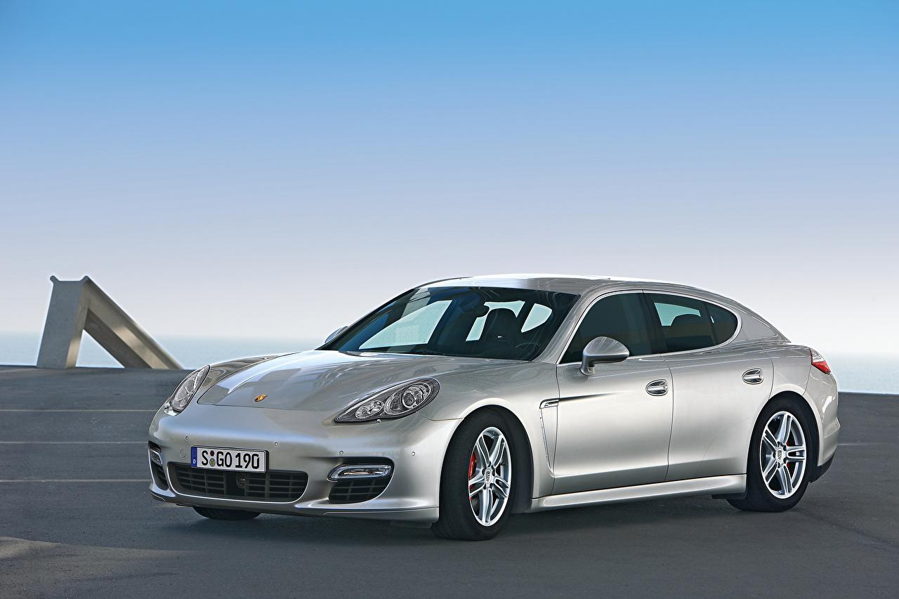 Desktop Wallpapers Porsche Silver color Cars Metallic auto automobile