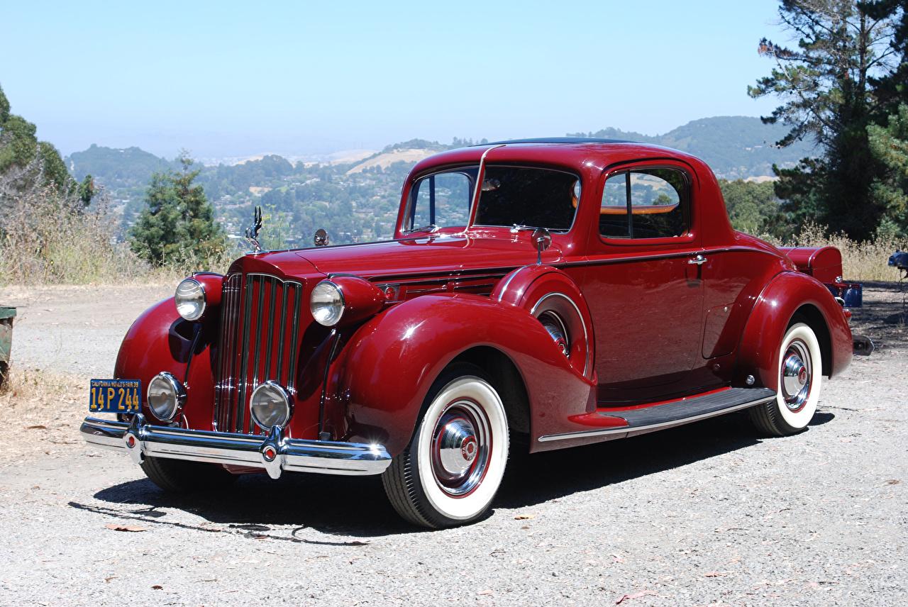 Photos 1939 Packard Twelve 2-4-passenger Coupe antique dark red Cars Metallic Retro maroon vintage burgundy Wine color auto automobile