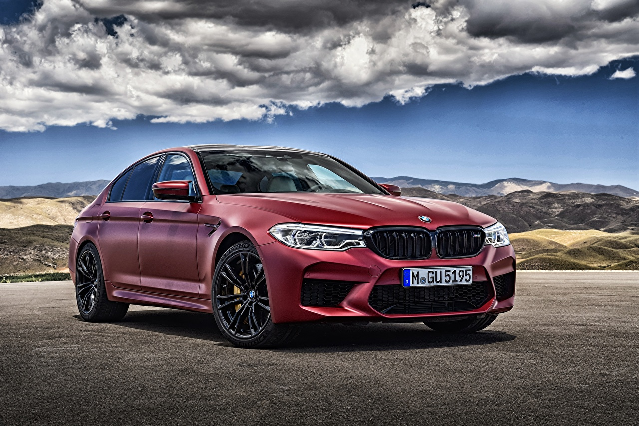 Images BMW 5-Series F90 Sedan burgundy Cars maroon dark red Wine color auto automobile