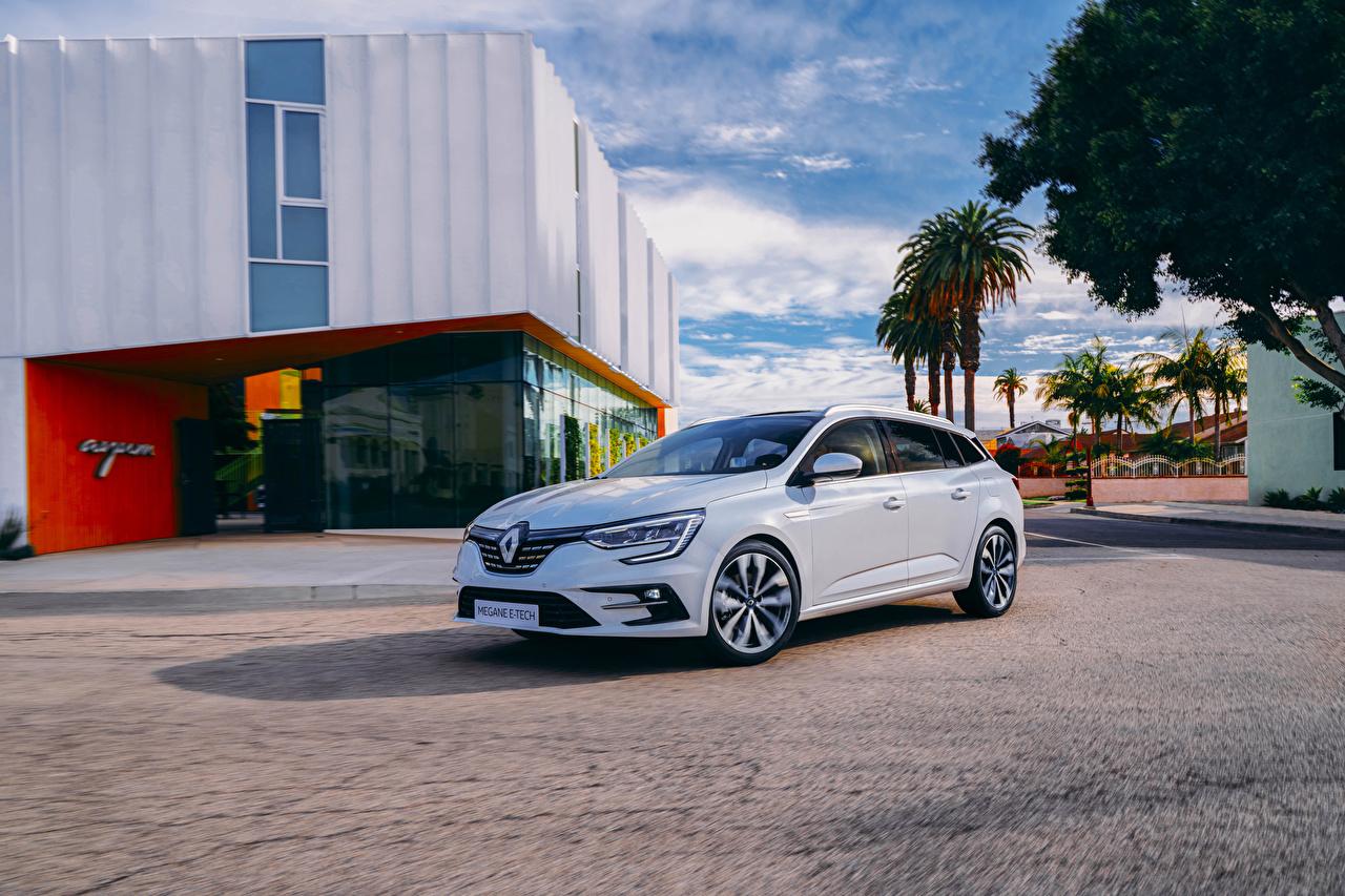 Photos Renault Hybrid vehicle White Cars Metallic auto automobile