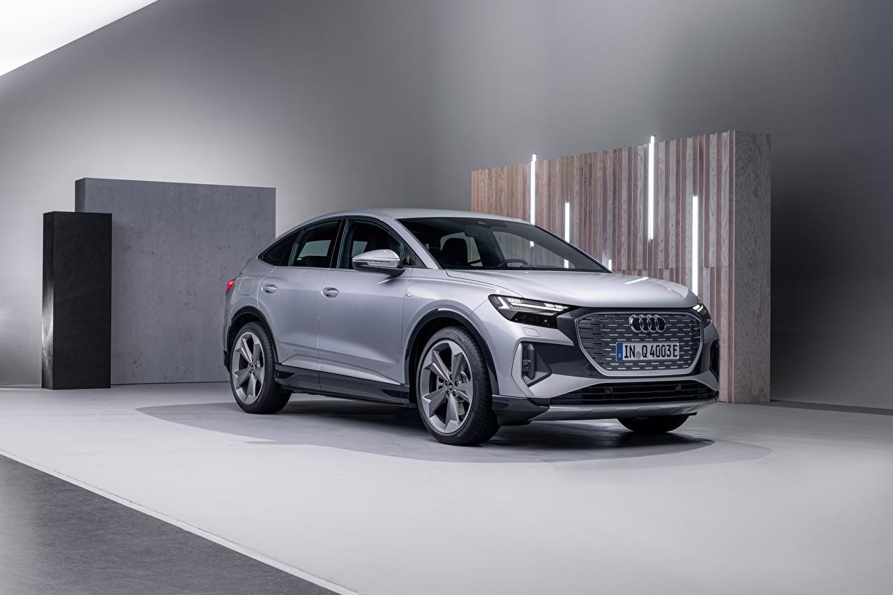 Audi Q4 Sportback 50 e-tron S line, Worldwide, 2021 Plata color Metálico Crossover autos, automóvil, automóviles, el carro Coches