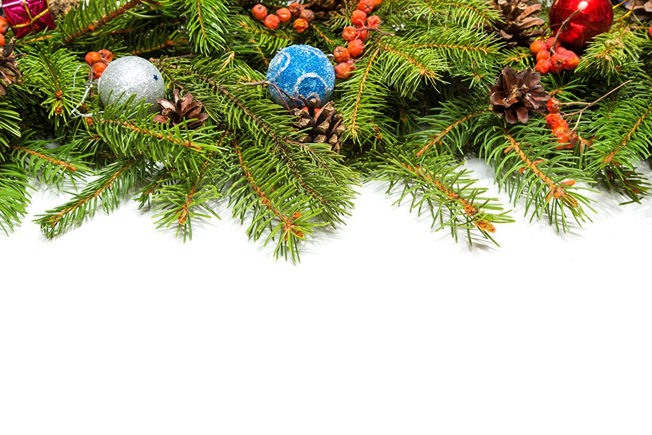Desktop Wallpapers Christmas Balls Branches Template