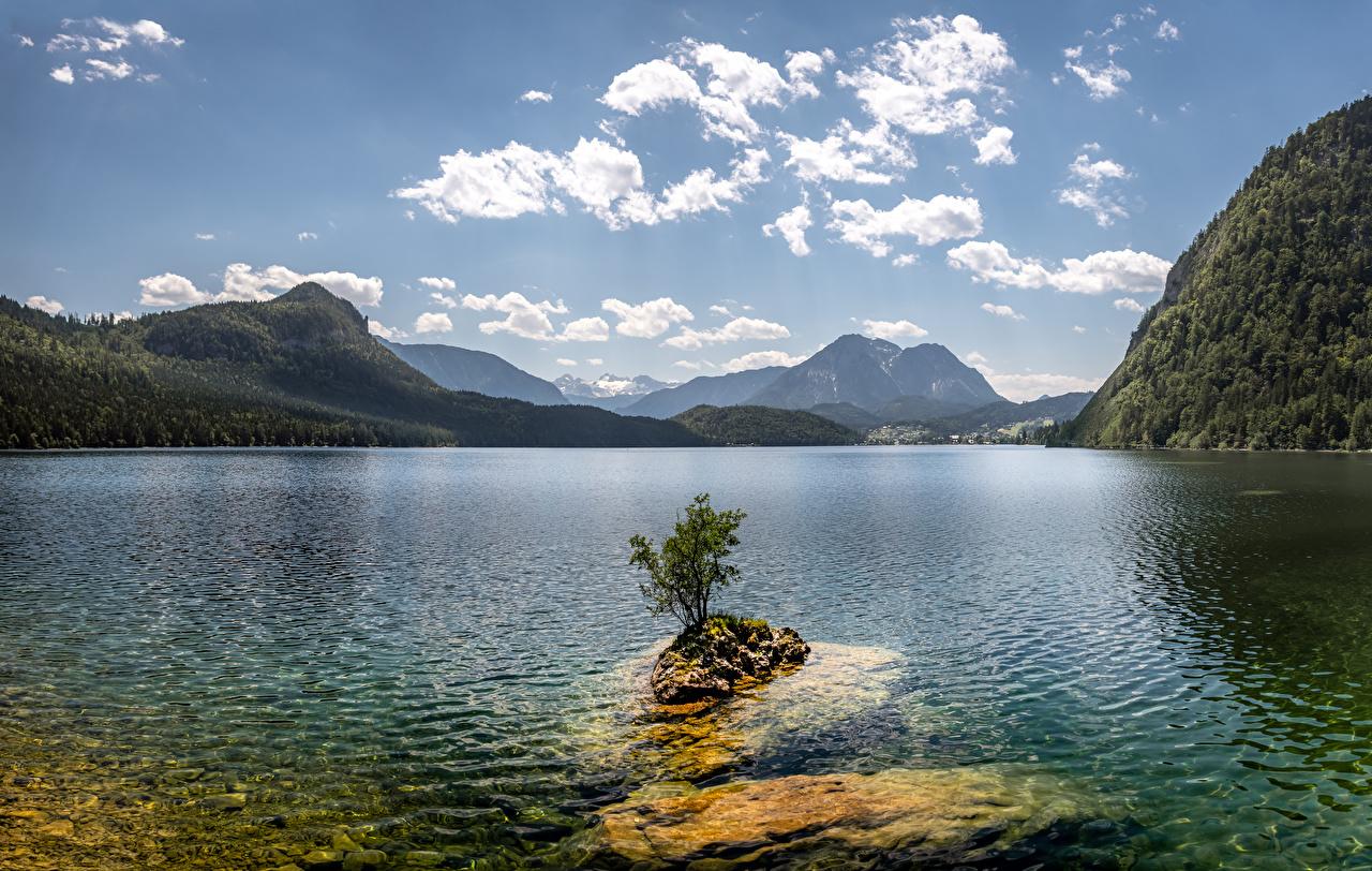Autriche Montagnes Lac Ciel Lake Altaussee, Northwest Styria Nuage montagne Nature