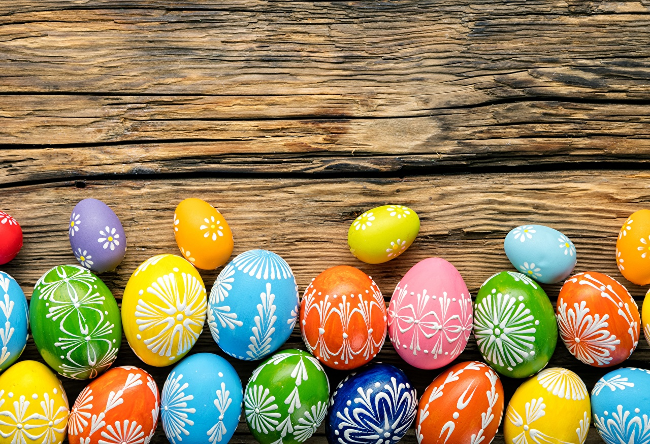 Picture Easter Multicolor Eggs egg