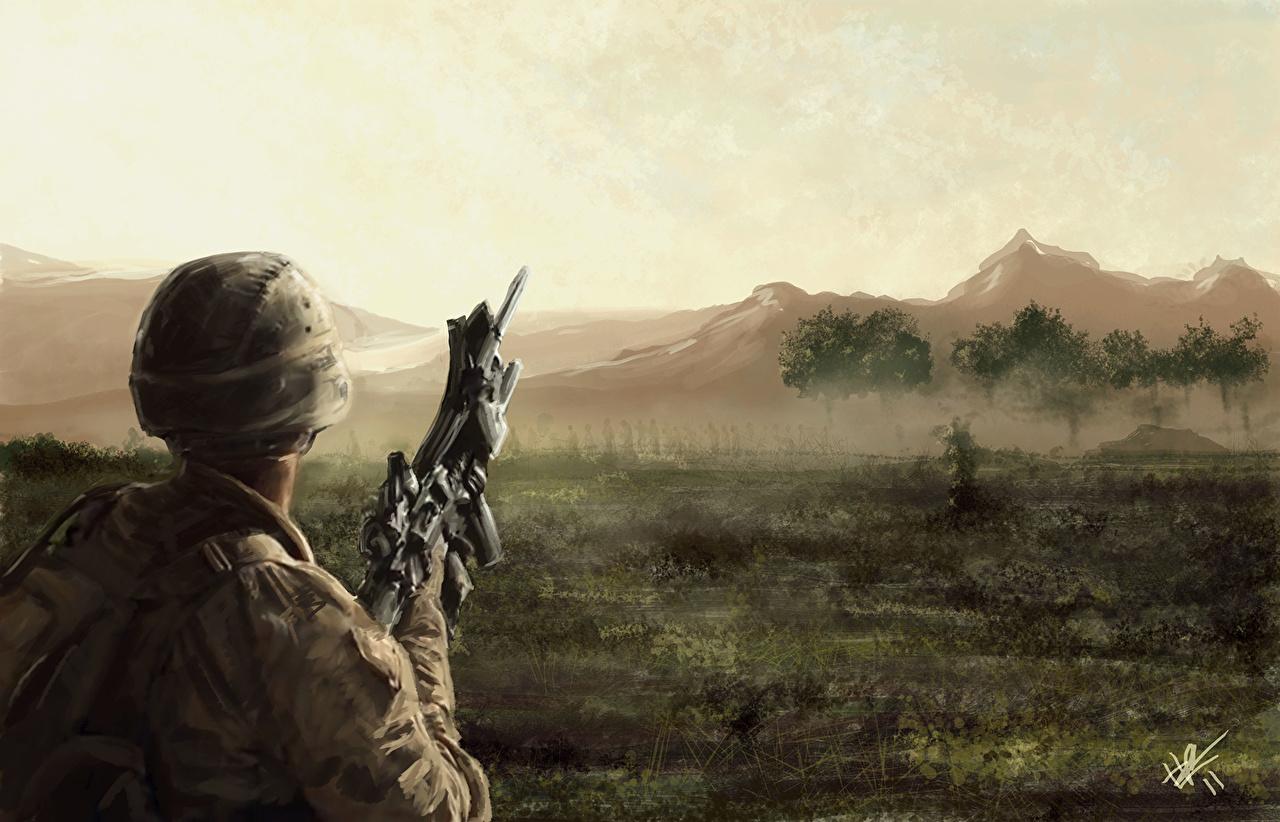 壁紙 兵 描かれた壁紙 ミリタリーヘルメット ヘルメット 陸軍 ダウンロード 写真