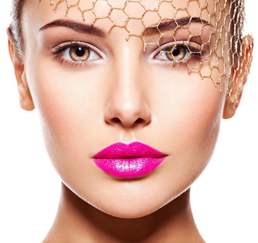 Desktop Hintergrundbilder Model Schminke Gesicht Mädchens Make Up junge frau junge Frauen