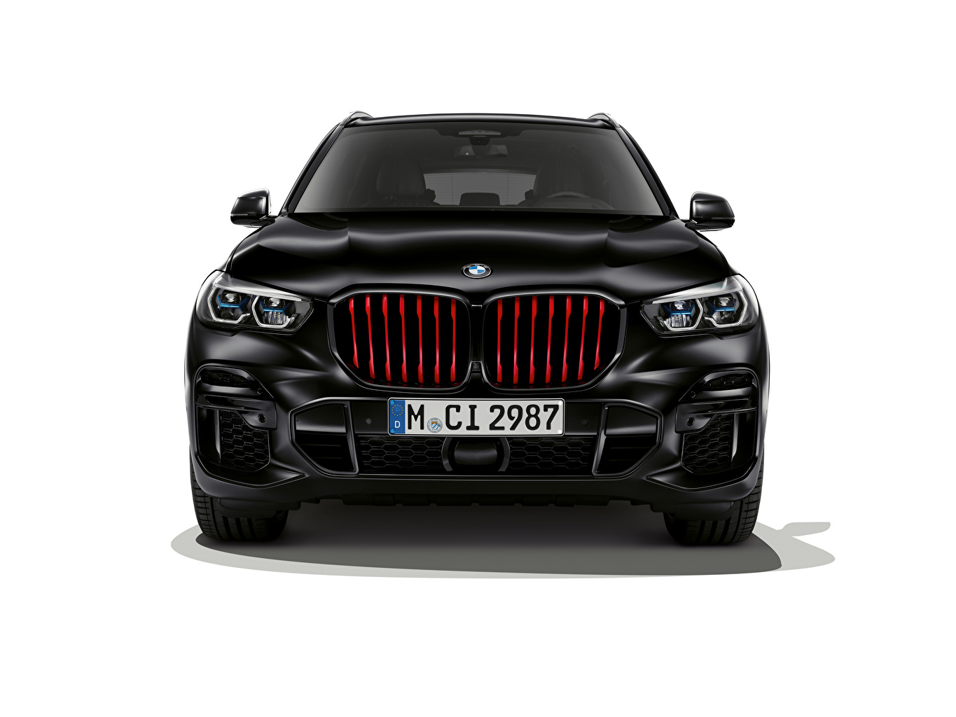 Pictures BMW Crossover X5 M50i Edition Black Vermilion, (Worldwide), (G05), 2021 Cars Front White background CUV auto automobile