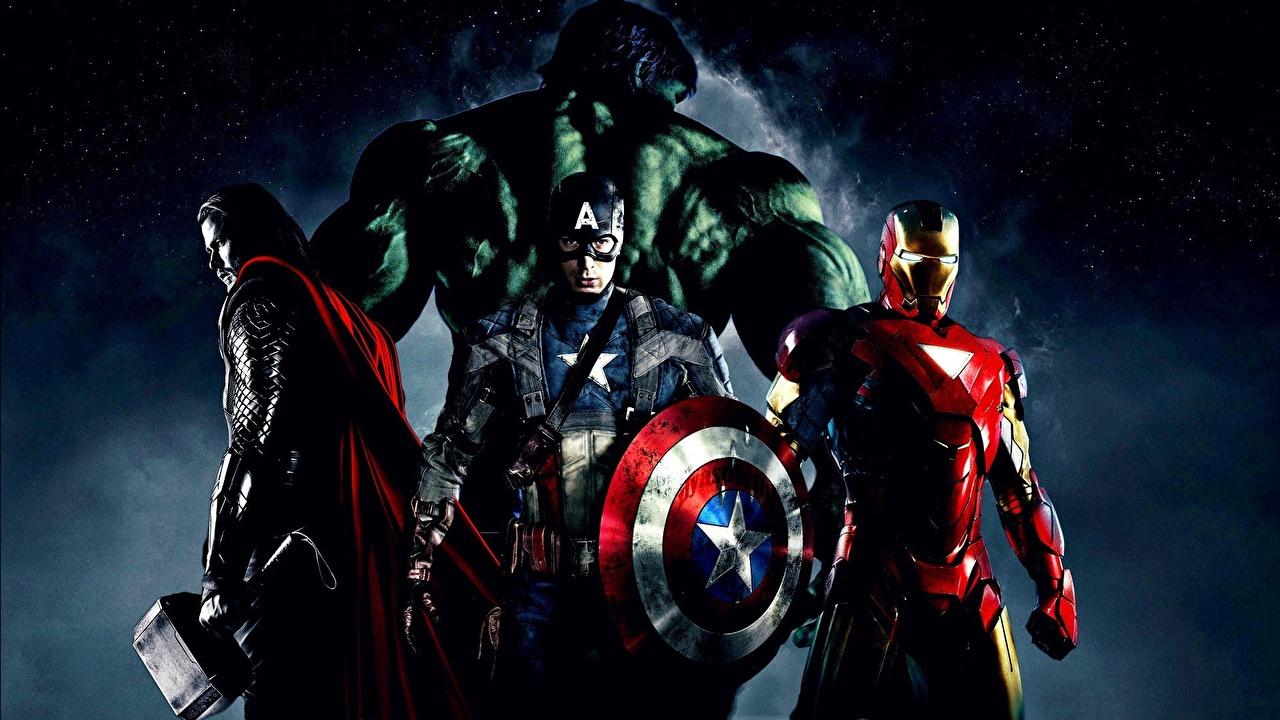 Bilder Marvel's The Avengers 2012 Thor Held Hulk Held Iron Man Held Captain America Held Film