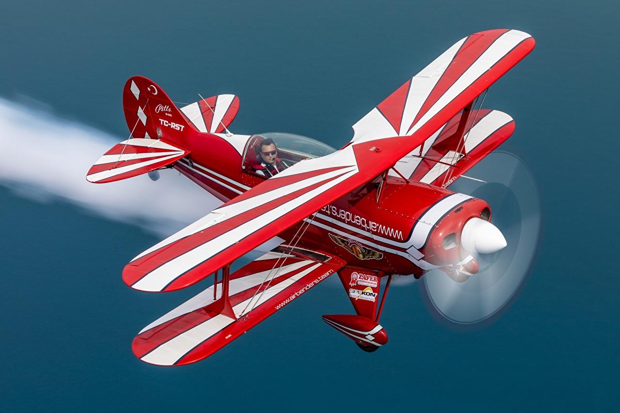 壁紙 飛行機 Biplane Pitts S 2b 飛翔 航空 ダウンロード 写真