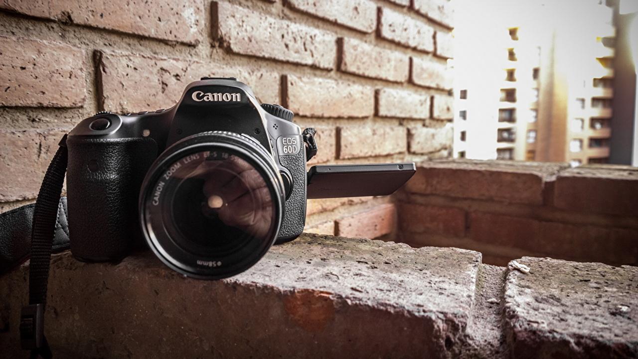 Wallpaper Camera Canon Made Of Bricks Wall