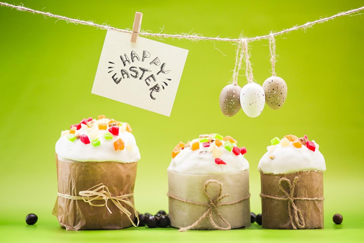 Foto Ostern englische Wäscheklammer eier Kulitsch Wort Lebensmittel Englisch englischer englisches Ei text das Essen