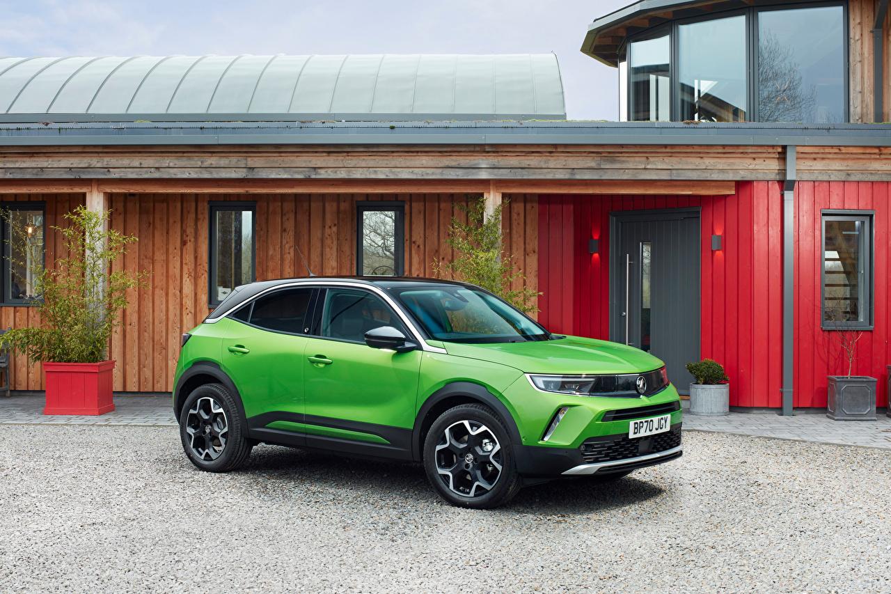 Desktop Wallpapers Vauxhall Crossover Mokka-e, 2021 Green Cars Metallic CUV auto automobile