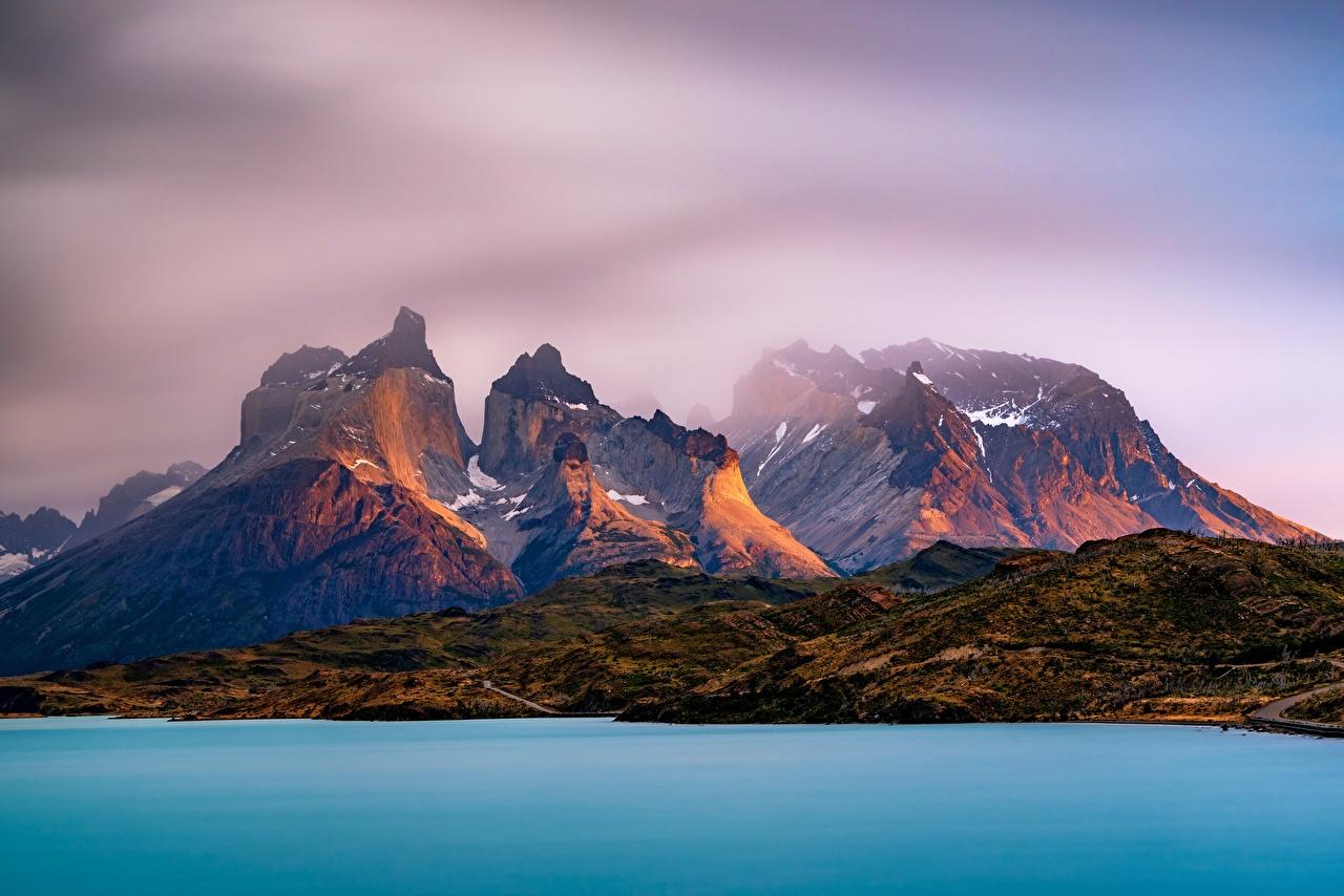 壁紙 山 湖 アルゼンチン Lago Argentino Andes Patagonia Santa Cruz 自然 ダウンロード 写真