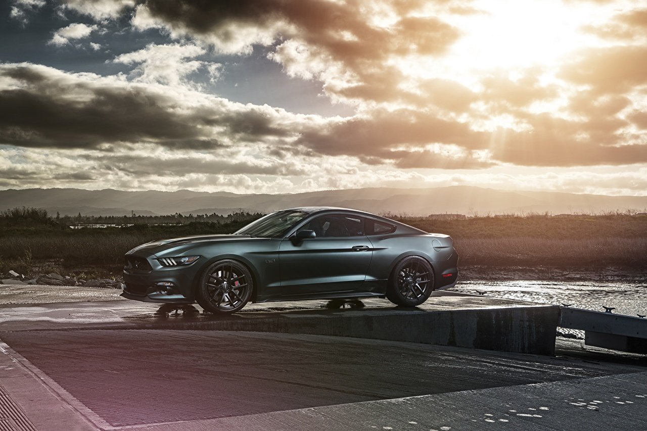 Photo Ford Mustang 2015 Gt Velgen Cars Clouds