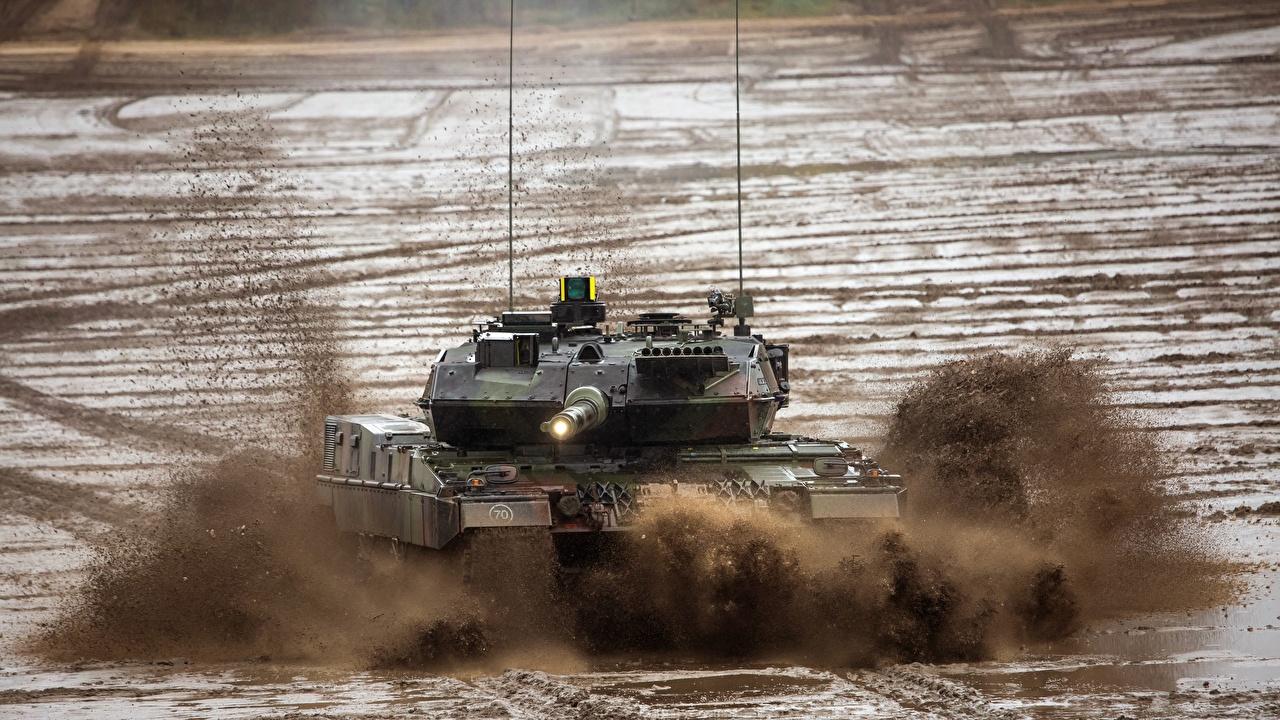 ,坦克,Leopard 2 A7,泥,德語,陆军,