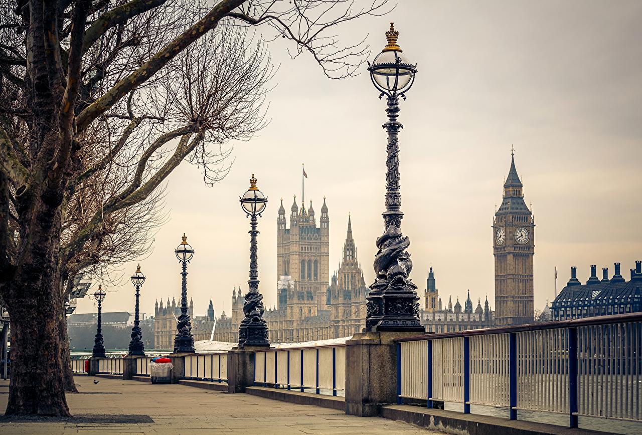 壁紙 イギリス ロンドン 塀 街灯 ビッグ ベン 都市