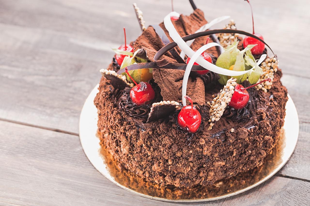 Wallpaper Chocolate Torte Cherry Food Design Cakes