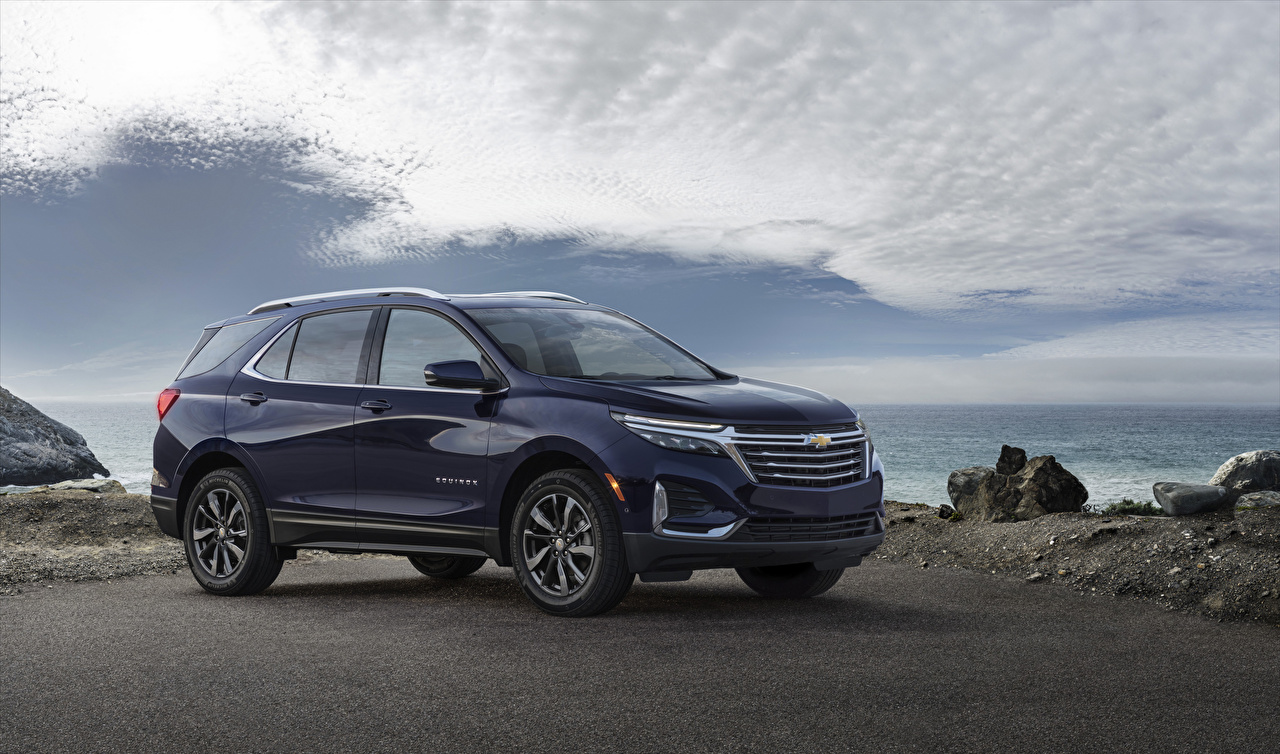 Pictures Chevrolet 2021 Equinox Premier Blue Cars Metallic auto automobile