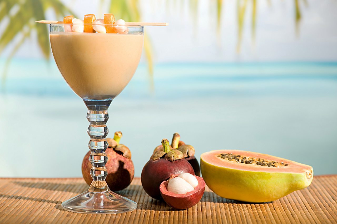Wallpaper Food Papaya Smoothie Fruit Stemware Mangosteen smoothy