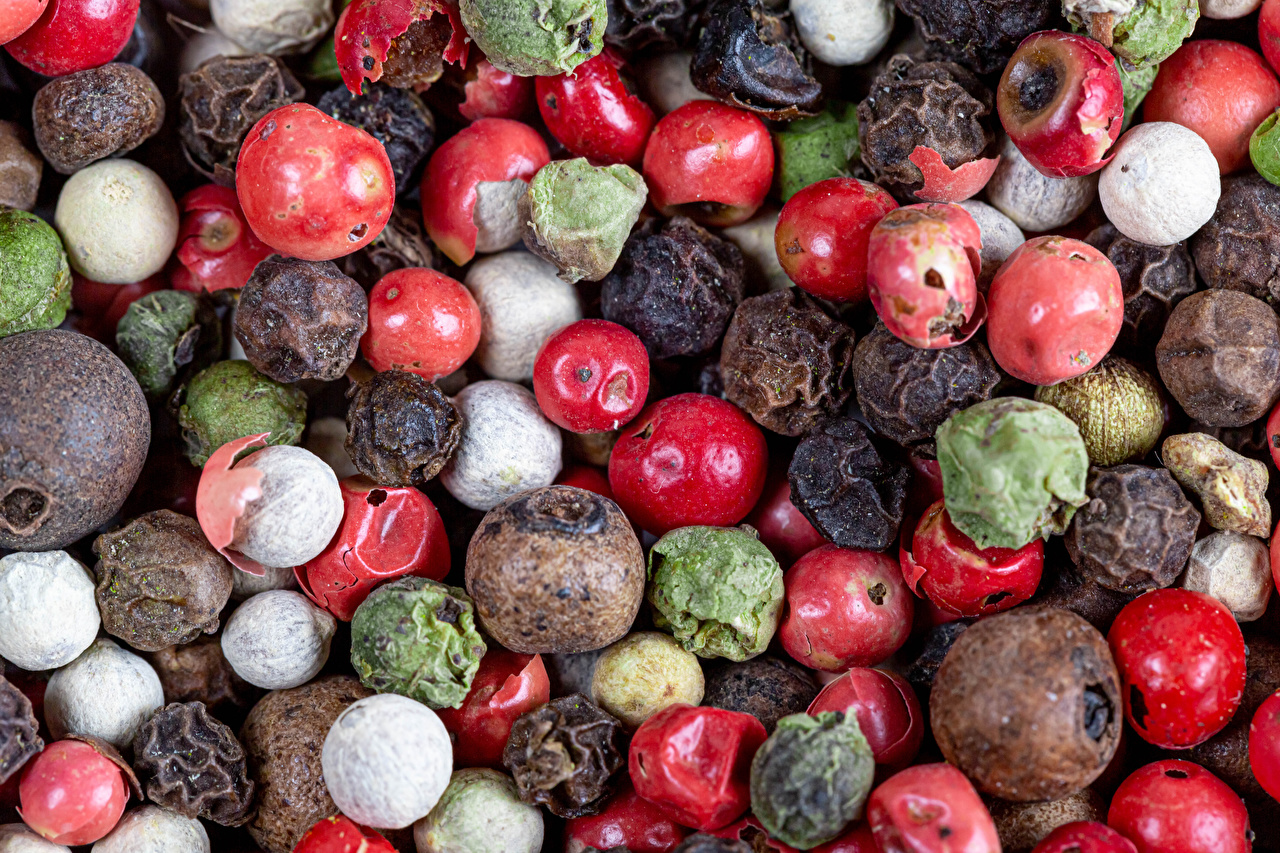 Tapeta Pieprz czarny żywność wiele Jedzenie Dużo