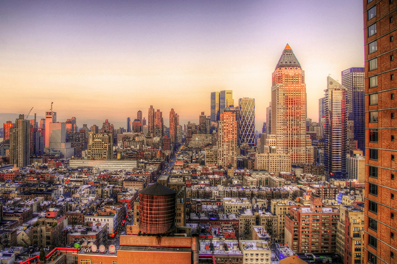 Wallpaper New York City Usa Hdr Cities Houses