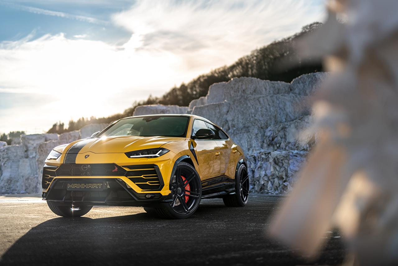 Picture Lamborghini Crossover Urus SSUV, 2020 Yellow Cars Metallic CUV auto automobile