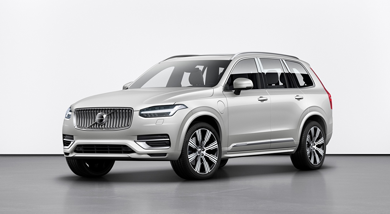 Images Volvo SUV XC90, T8, Twin Engine Inscription, 2019 Silver color Cars Sport utility vehicle auto automobile