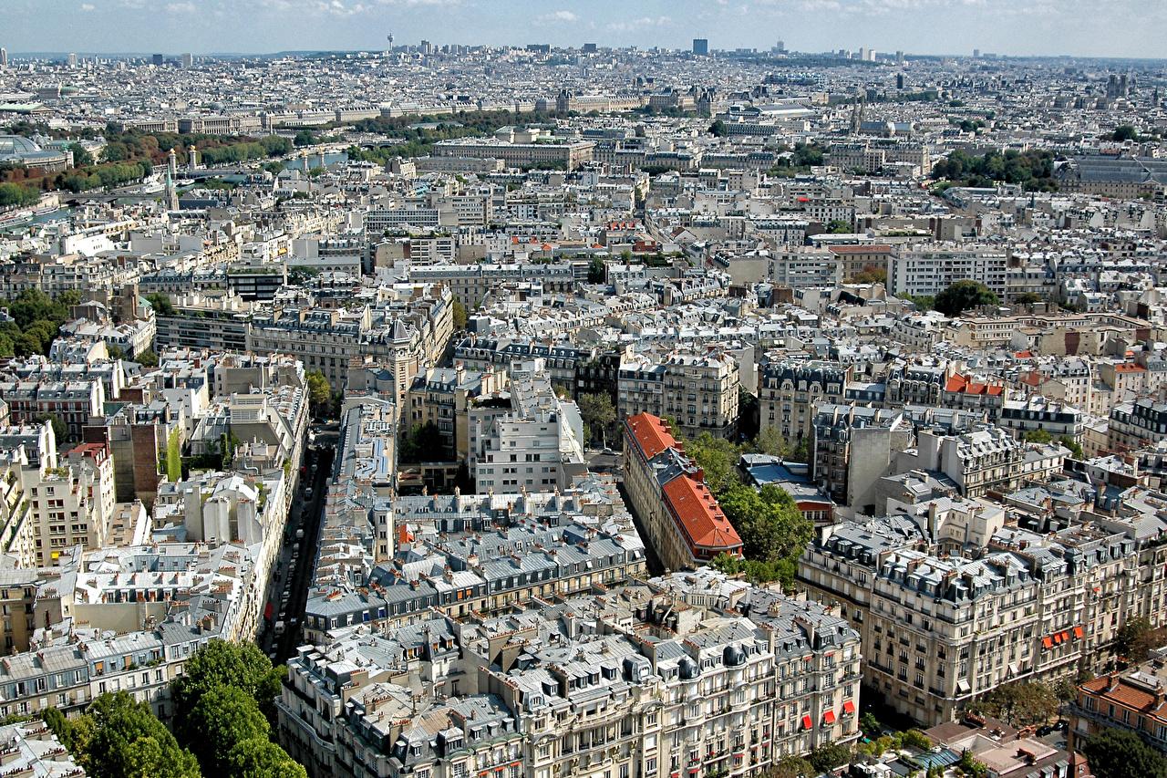 Bakgrunnsbilder til skrivebordet Paris Frankrike Megalopolis Ovenfra Hus Byer byen en by bygning bygninger