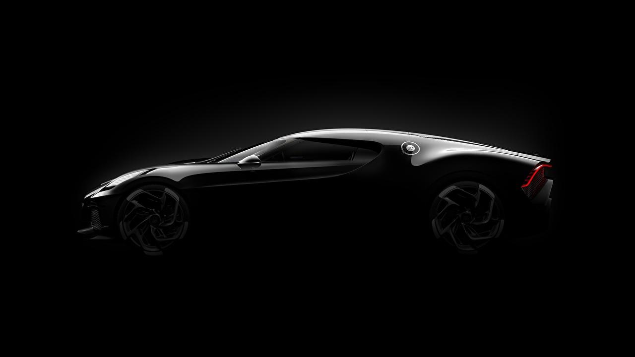 Image Bugatti 2019 La Voiture Noire Black Cars Side Black