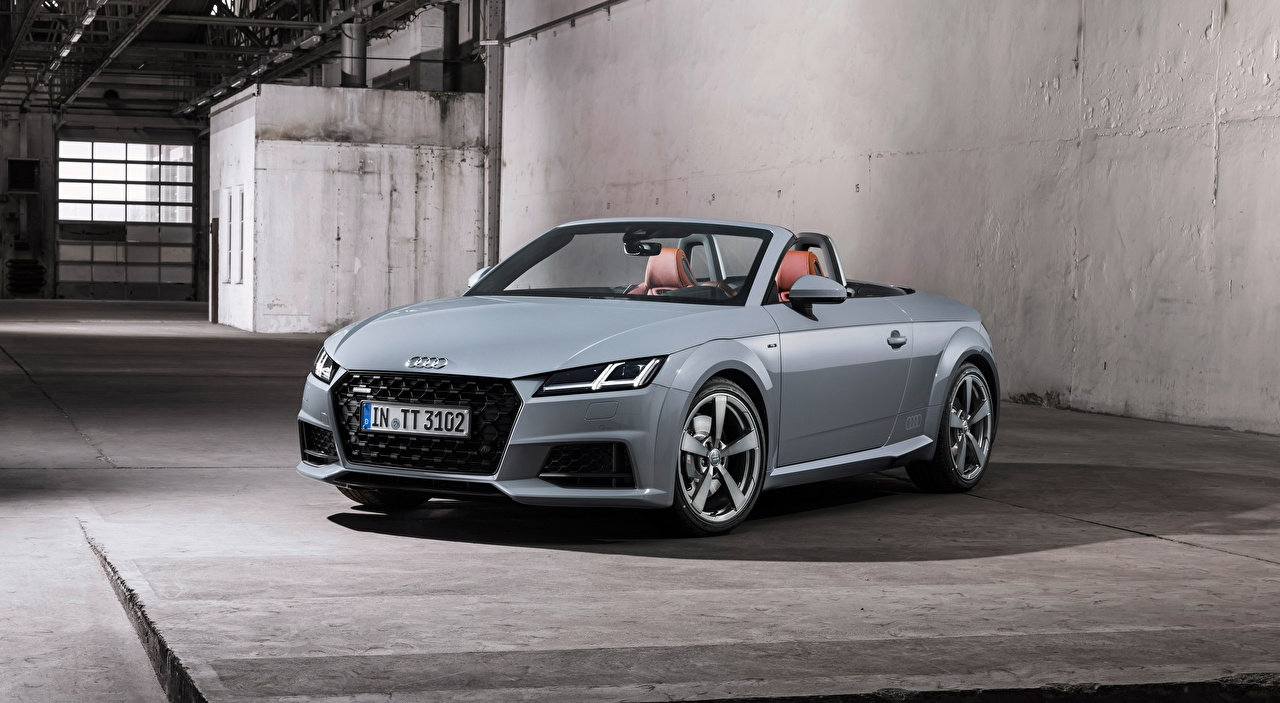 Pictures Audi TT, Roadster, 20 Years, 2018 Roadster Grey Cars gray auto automobile