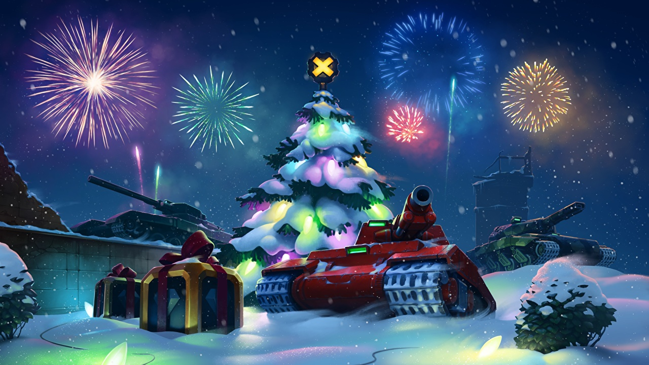 Image Tanks Fireworks Christmas tree Army