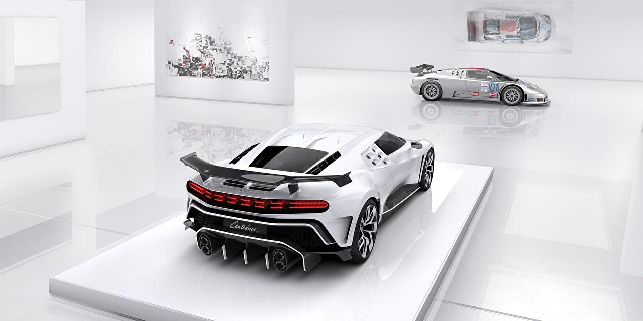 Fonds D Ecran Bugatti Centodieci Arriere Blanc Voitures