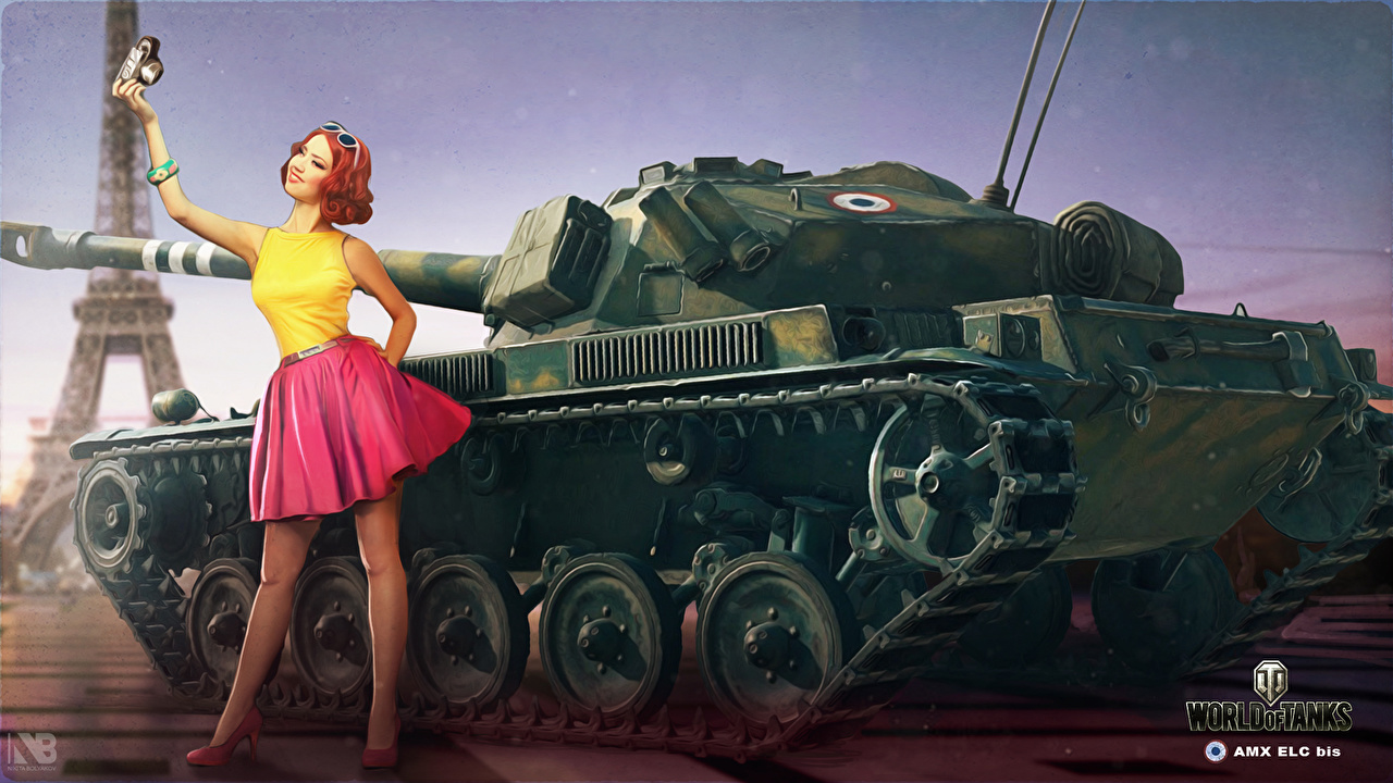 Wallpapers World of Tanks Nikita Bolyakov Tanks Girls