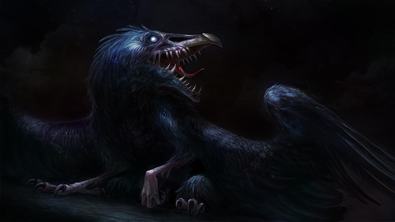 Pictures monster Wings Fantasy Teeth Monsters