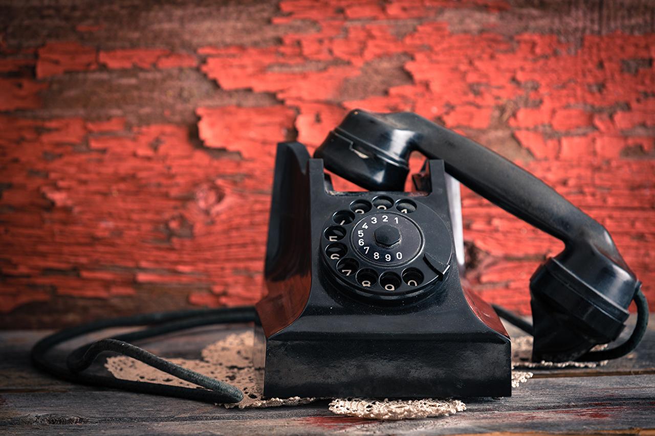 Picture Retro phone Black Old vintage antique Telephone