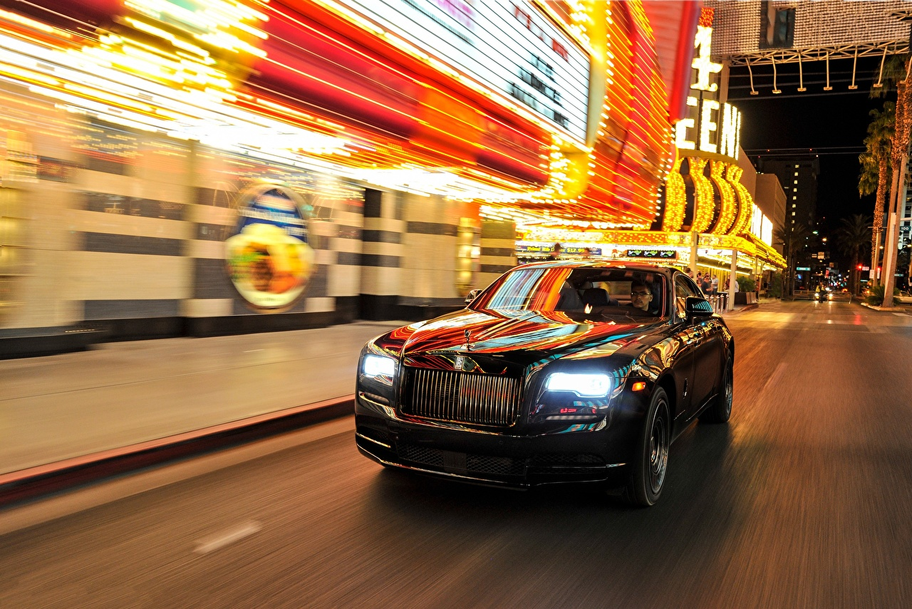 Wallpaper Rolls-Royce Wraith, Black Badge Motion auto moving riding driving at speed Cars automobile