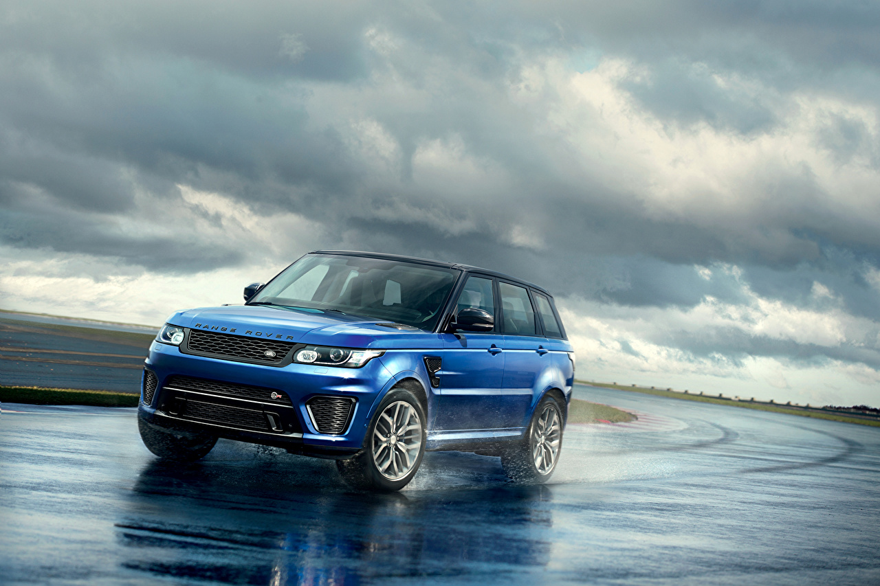 Immagine Land Rover 2015 Sport SVR Celeste colore automobile Auto macchine macchina autovettura