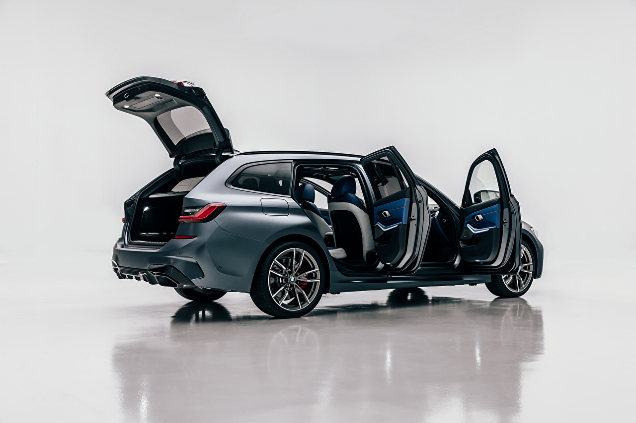Images BMW Estate car Opened door M340i xDrive Touring, Worldwide, G21, 2020 Cars Side Metallic Station wagon auto automobile