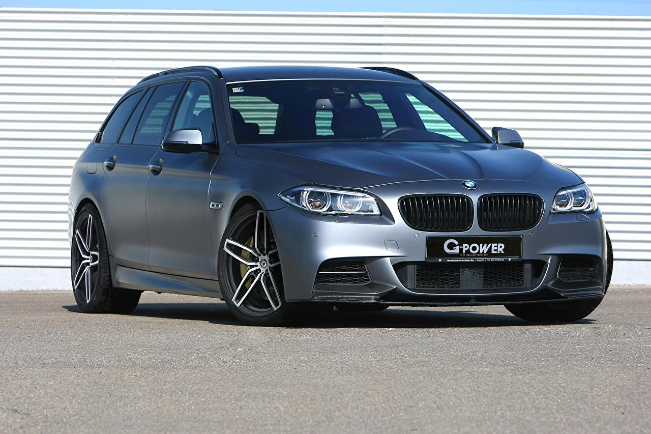 BMW Tuning 2015 550d (G-Power) Gris Devant voiture, automobile, grise Voitures