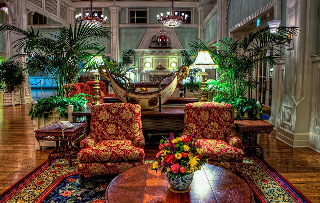 Fotos von Disneyland USA HDRI Park Innenarchitektur Sessel Design Vereinigte Staaten HDR