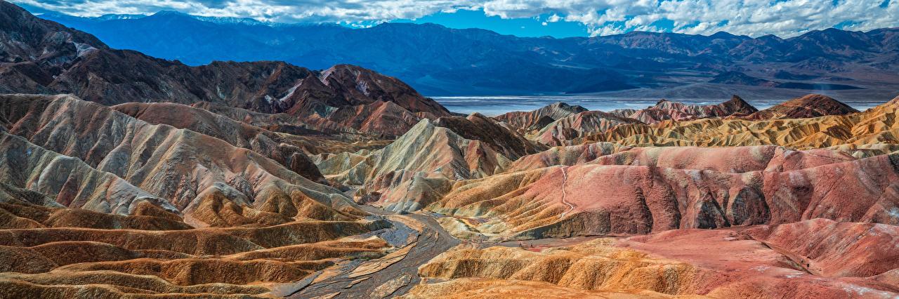 Bilder Vereinigte Staaten Panorama Death Valley National Park Berg Natur USA Panoramafotografie Gebirge Parks
