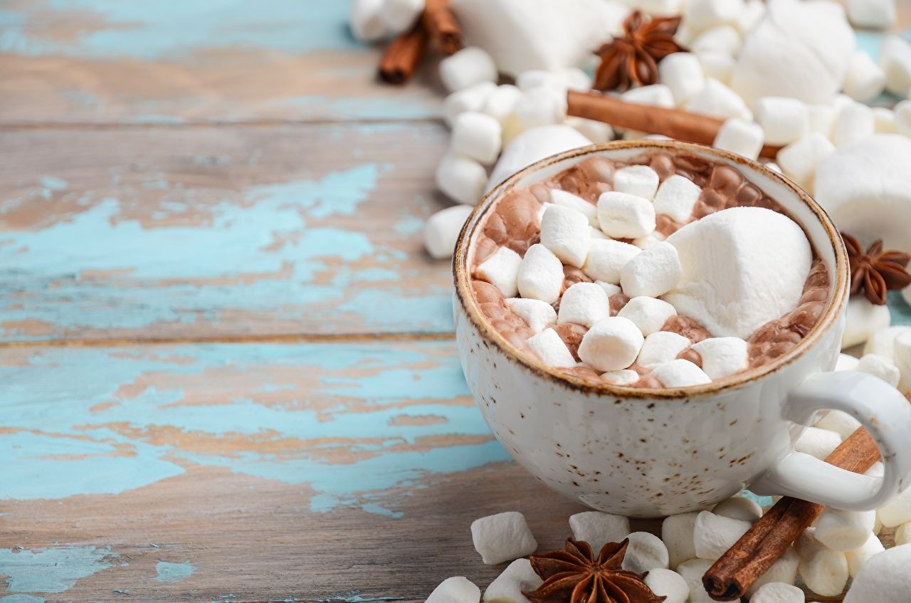 Wallpaper cocoa Marshmallow Mug Food Hot chocolate drink